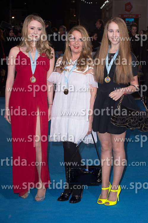 Skylar McKeith-Magaziner, Gillian McKeith and Afton McKeith-Magaziner attends the European premiere for &quot;Eddie the Eagle at Odeon Leicester Square in London, 17.03.2016. EXPA Pictures &copy; 2016, PhotoCredit: EXPA/ Photoshot/ Euan Cherry<br /> <br /> *****ATTENTION - for AUT, SLO, CRO, SRB, BIH, MAZ, SUI only*****