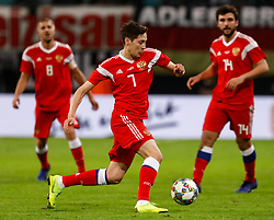November 15, 2018 - Leipzig, Germany - Daler Kuzyaev (C) of Russia in action during the international friendly match between Germany and Russia on November 15, 2018 at Red Bull Arena in Leipzig, Germany. (Credit Image: © Mike Kireev/NurPhoto via ZUMA Press)