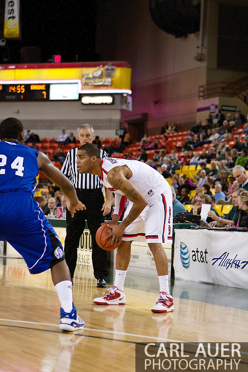 November 26th, 2010:  Anchorage, Alaska - St. John's senior guard D.J. Kennedy (1) in the Red Storm's semi final game of the Great Alaska Shootout against the Drake Bulldogs.  The Red Storm defense held Drake to a tournament low score as St. Johns advanced to the final game 82-39.