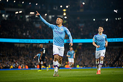 MANCHESTER, ENGLAND - Wednesday, January 1, 2020: Manchester City's Gabriel Jesus celebrates scoring the first goal during the FA Premier League match between Manchester City FC and Everton FC at the City of Manchester Stadium. Manchester City won 2-1. (Pic by David Rawcliffe/Propaganda)