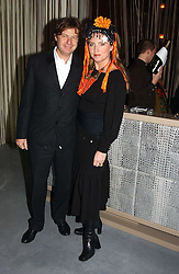 KATRINE BOORMAN and DANNY MOYNIHAN at a party to celebrate the opening of W'Sens - a new fine french restaurant at 12 Waterloo Place, London SW1 on 10th December 2004.<br /><br />NON EXCLUSIVE - WORLD RIGHTS