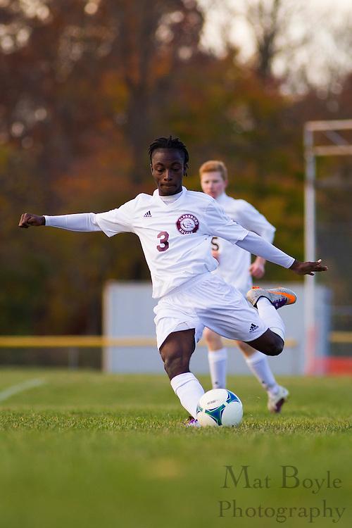 Audubon High School Boy's Soccer at Glassboro High School in Glassboro, NJ on Friday November 8, 2013. (photo / Mat Boyle)