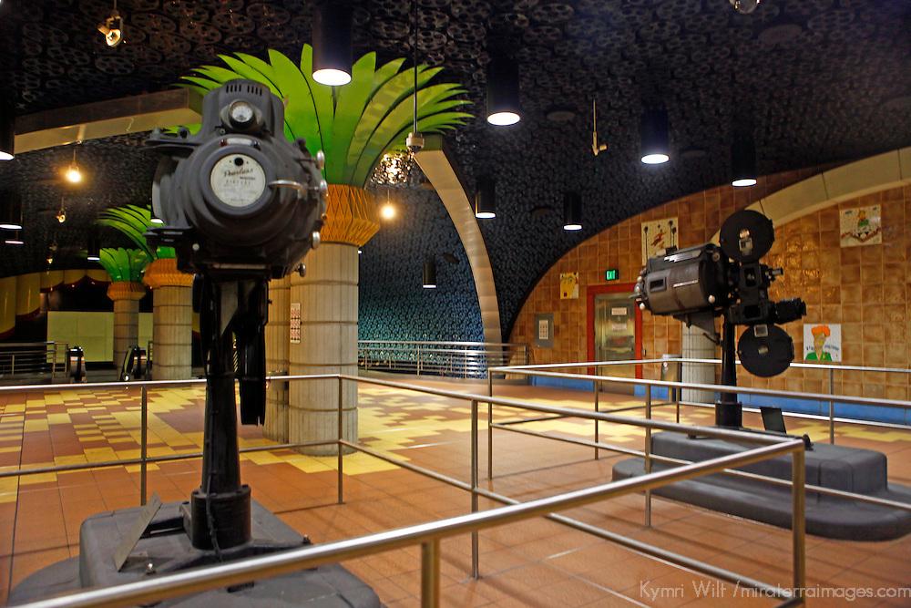 USA, California, Los Angeles. Los Angeles Metro station decor in Hollywood.