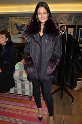 KIM NAYAR at the Mila Furs Trunk Show held at the Haymarket Hotel, 1 Suffolk Place, London on 1st November 2016.