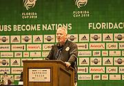 01/07/2018. Orlando, USA.  <br /> Press event to launch the 2018 Florida Cup.<br /> Orlando Mayor Buddy Dyer<br /> . <br /> <br /> At  Universal Resort, Orlando.<br /> Pic: Mark Davison /PLPA