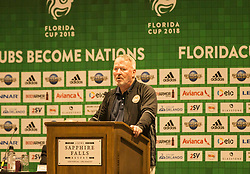 01/07/2018. Orlando, USA.  <br /> Press event to launch the 2018 Florida Cup.<br /> Orlando Mayor Buddy Dyer<br /> . <br /> <br /> At  Universal Resort, Orlando.<br /> Pic: Mark Davison /PLPA