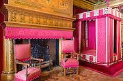 Bedroom of Cesar de Vendome, Chateau de Chenonceau, Chenonceaux, Loire Valley, France