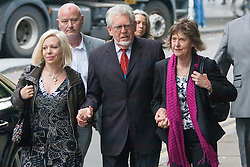 London, June 3rd 2014. TV presenter and entertainer Rolf Harris, 84, arrives at Southwark Crown Court in London accompanied by his daughter Bindi and niece Jenny, as his trial on 12 charges of indecent assault against 4 girls aged 7 - 19 continues.