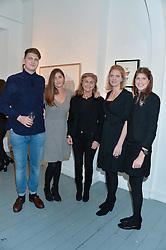 Left to right, PRINCE FRITZI VON PREUSSEN, PRINCESS AUGUSTA VON PREUSSEN, PRINCESS VICTORIA VON PREUSSEN, PRINCESS BEATRICE VON PREUSSEN and PRINCESS FLORENCE VON PREUSSEN at an exhibition of works by Beatrice von Preussen held at The Gallery on The Corner, 155 Battersea Park Road, London SW8 on 11th December 2013.