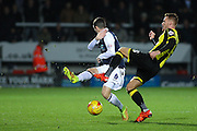 Burton Albion midfielder Tom Naylor cuts out the ball in the midfield during the Sky Bet League 1 match between Burton Albion and Millwall at the Pirelli Stadium, Burton upon Trent, England on 1 December 2015. Photo by Aaron Lupton.