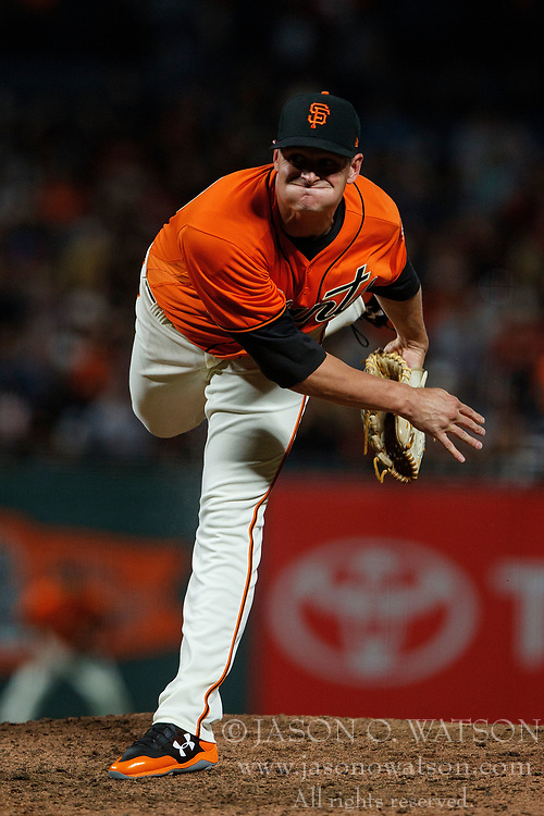 SAN FRANCISCO, CA - JULY 07: Kyle Crick #59 of the San Francisco Giants pitches against the Miami Marlins during the ninth inning at AT&T Park on July 7, 2017 in San Francisco, California. The Miami Marlins defeated the San Francisco Giants 6-1. (Photo by Jason O. Watson/Getty Images) *** Local Caption *** Kyle Crick