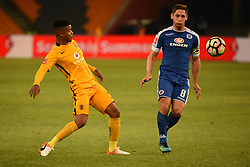Kaizer Chiefs George Lebese and Supersports Dean Furman during the 2016 Premier Soccer League match between Kaizer Chiefs and Supersport <br /> held at theFNB Stadium in Johannesburg, South Africa on the 23rd November 2016<br /> <br /> Photo by:   Real Time Images