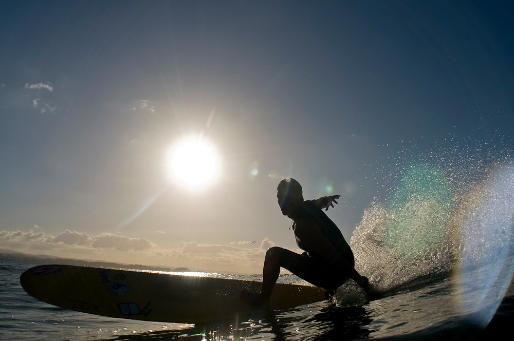 May 4 2011: Dane Pioli surfs at Snapper Rocks on the Gold Coast , Queensland.