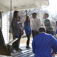 The Mayor's Youth Council's explores Elvis Presley's Birthplace ending up- on the front porch of his Childhood home Saturday as apart of their Elvis Tour