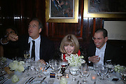 charles Finch, Anna Wintour and Jonathan Newhouse. charles Finch and Chanel 6th Anniversary Pre-Bafta party to celebratew A Great Year of Film and Fashion Beyond the Red Carpet at Annabel's. Berkeley Sq. London W1. 18 February 2006. ONE TIME USE ONLY - DO NOT ARCHIVE  © Copyright Photograph by Dafydd Jones 66 Stockwell Park Rd. London SW9 0DA Tel 020 7733 0108 www.dafjones.com