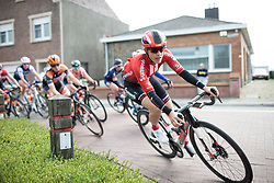 Lucinda Brand (NED) of Team Sunweb leans into a corner during the AG Driedaagse Brugge-De Panne - a 134.4 km road race, between Brugge and De Panne on April 21, 2018, in West Flanders, Belgium. (Photo by Balint Hamvas/Velofocus.com)