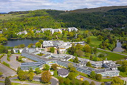 Aerial view of campus of Stirling University, Stirling, Scotland, UK