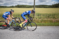 Tetyana Riabchenko (UKR) of Lensworld Kuota Cycling Team digs deep on Stage 3 of the Ladies Tour of Norway - a 156.6 km road race, between Svinesund (SE) and Halden on August 20, 2017, in Ostfold, Norway. (Photo by Balint Hamvas/Velofocus.com)