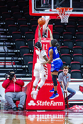 NORMAL, IL - January 03: Tete Maggett completes the fast break defended by Del'Janae Williams during a college women's basketball game between the ISU Redbirds and the Sycamores of Indiana State January 03 2020 at Redbird Arena in Normal, IL. (Photo by Alan Look)