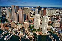 Downtown Boston featuring Boston Harbor Hotel (lower left)