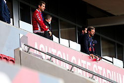 Bristol City Chairman Jon Lansdown and Bristol City CEO Mark Ashton look dejected in the Director's box after a 0-1 loss - Rogan/JMP - 04/07/2020 - Ashton Gate Stadium - Bristol, England - Bristol City v Cardiff City - Sky Bet Championship.
