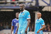 midfielder Yaya Toure during the Barclays Premier League match between Everton and Manchester City at Goodison Park, Liverpool, England on 23 August 2015. Photo by Simon Davies.
