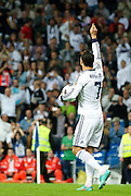 30.SEPTEMBER.2012. MADRID<br /> <br /> REAL MADRID VS DEPORTIVO MATCH AT THE SANTIAGO BERNABEU STADIUM. THE SCORE WAS 5-1. <br /> <br /> BYLINE: EDBIMAGEARCHIVE.CO.UK<br /> <br /> *THIS IMAGE IS STRICTLY FOR UK NEWSPAPERS AND MAGAZINES ONLY*<br /> *FOR WORLD WIDE SALES AND WEB USE PLEASE CONTACT EDBIMAGEARCHIVE - 0208 954 5968*