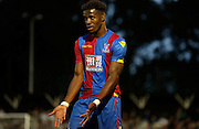 Wilf Zaha pleading for the ball during the Pre-Season Friendly match between Bromley and Crystal Palace at the Courage Stadium, Bromley, United Kingdom on 30 July 2015. Photo by Michael Hulf.