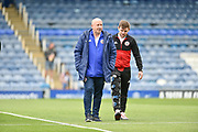 Accrington Stanley Manager, John Coleman checks the pitch before kick off during the EFL Sky Bet League 1 match between Portsmouth and Accrington Stanley at Fratton Park, Portsmouth, England on 4 May 2019.