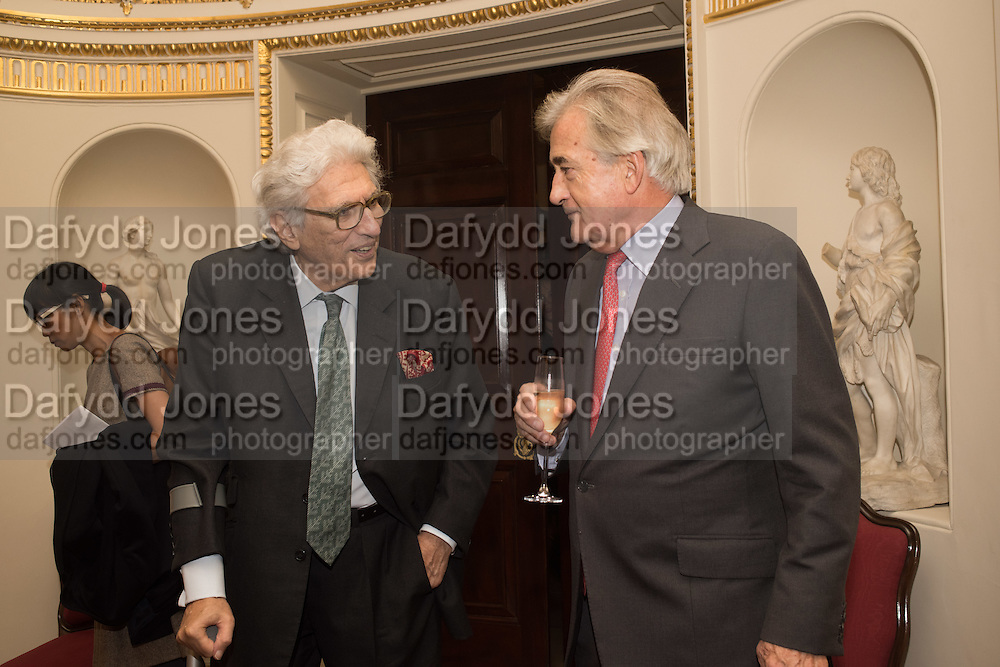 LORD GOWRIE; ANTONY BEEVOR; , Everyman 25th Anniversary party, Spencer House. St. James' Place. London. SW1. 26 October 2016
