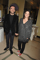 MARY McCARTNEY and SIMON ABOUD at the 10th Anniversary Party of the Lavender Trust, Breast Cancer charity held at Claridge's, Brook Street, London on 1st May 2008.<br />