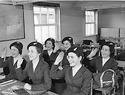 18/02/1958.02/18/1962.18 February 1958.Aer Lingus special Air Hostesses at Dublin Airport