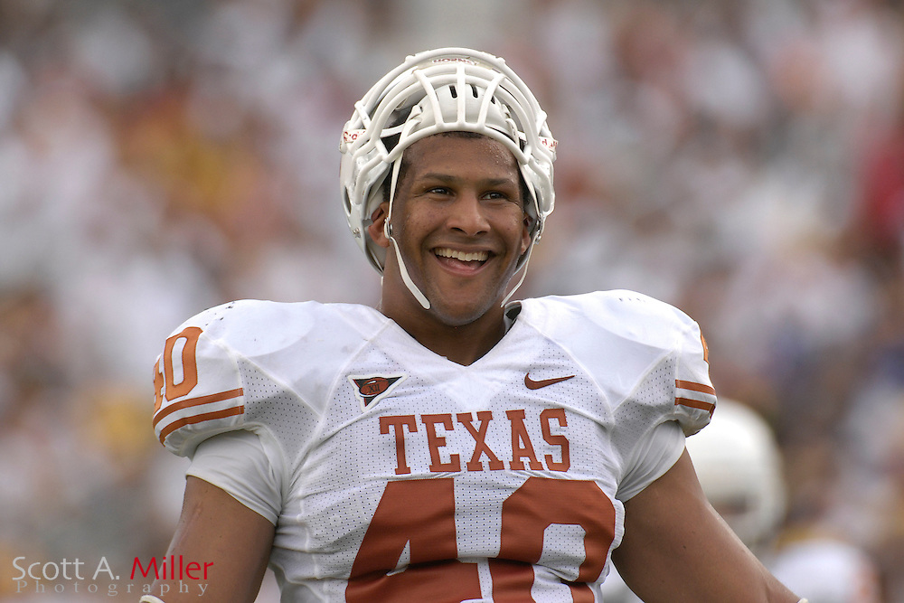 Sept. 15, 2007; Orlando, FL, USA; Texas Longhorns defender (40) Robert Kilbrew during his team's game against the Central Florida Knights at Bright House Stadium. Texas won the game 35-32...©2007 Scott A. Miller