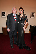 """NEW YORK - JANUARY 19:  American Cancer Society Eastern Division Chief Executive Officer Donald Distasio poses with pianist Lola Astanova before """"A Tribute to Horowitz"""" presented by the American Cancer Society at Carnegie Hall on January 19, 2012 in New York City.  (Photo by Matthew Peyton/Getty Images) *** Local Caption *** Donald Distasio; Lola Astanova"""