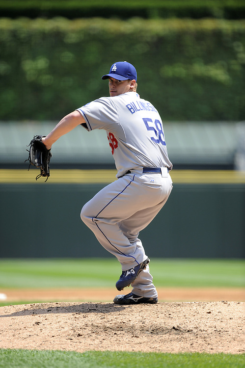 CHICAGO - JUNE 25:  Chad Billingsley #58 of the Los Angeles Dodgers pitches against the Chicago White Sox on June 25, 2009 at U.S. Cellular Field in Chicago, Illinois.  The White Sox defeated the Dodgers 6-5 in 13 innings.  (Photo by Ron Vesely)