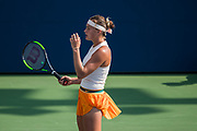 FLUSHING MEADOW, NY - AUGUST 28: ARYNA SABALENKA (BLR) day two of the 2018 US Open on August 28, 2018, at Billie Jean King National Tennis Center in Flushing Meadow, NY. (Photo by Chaz Niell/Icon Sportswire)