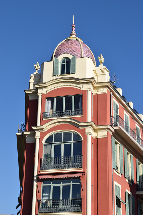 Typical building place Massena in Nice, France,
