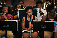 Band members perform during the Legacy/Candlelight service on Friday, April 27, 2018, in the Lehman Center at Concordia College Alabama in Selma, Ala. LCMS Communications/Erik M. Lunsford