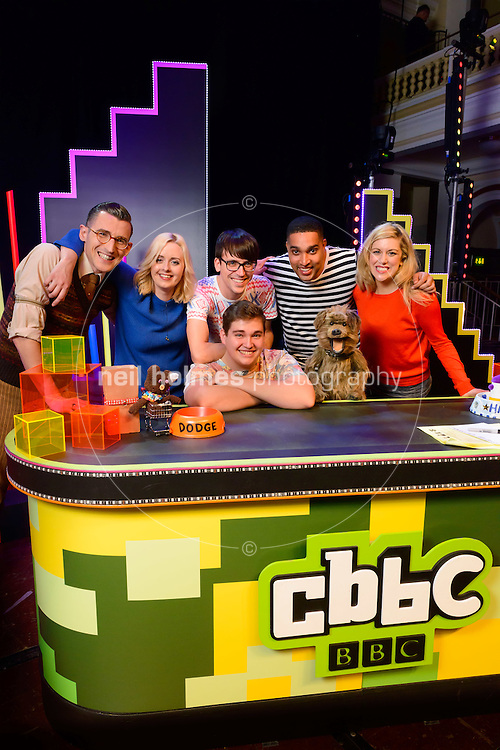 City Centre, Kingston Upon Hull, East Yorkshire, United Kingdom, 30 October, 2015. CBBC Live and Digital Hull. Pictured: CBBC team in Hull City Hall Studio