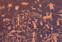 Ancient native American Petroglyphs of Newspaper Rock State Historic Monument Utah