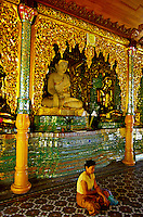 The Pavilion of the Maha Gandha Bell, the Shwedagon Pagoda, Yangoon (Rangoon), Burma (Myanmar)