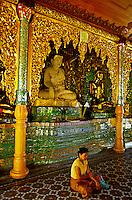 The Pavilion of the Maha Gandha Bell, the Shwedagon Pagoda, Yangoon (Rangoon), Burma (Myanmar)