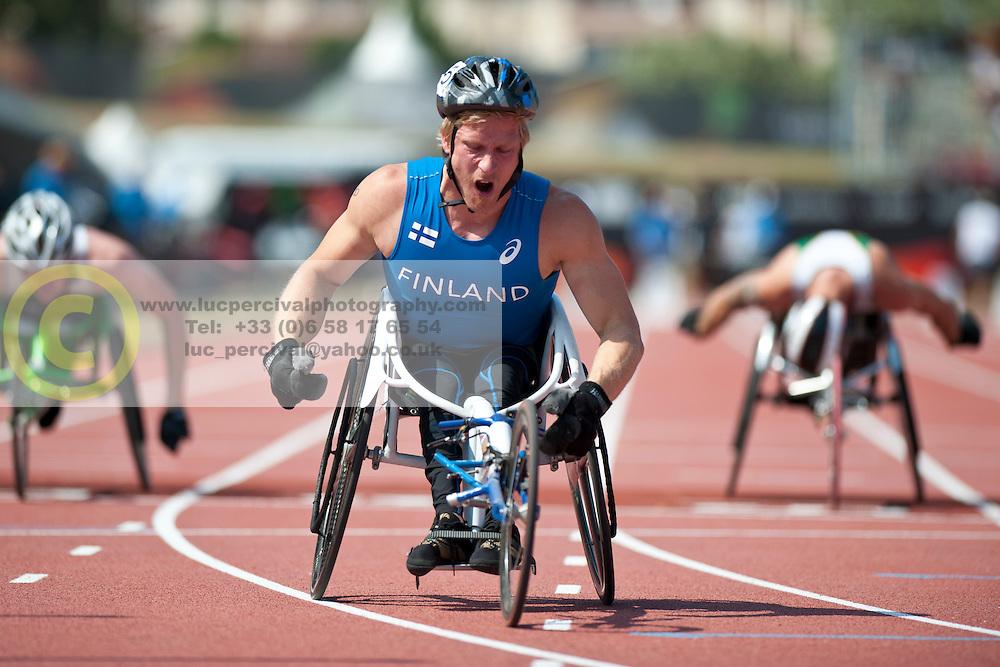 TAHTI Leo Pekka, FIN, 100m, T54, 2013 IPC Athletics World Championships, Lyon, France