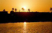 Africa - Sunset over Saint-Louis Senegal
