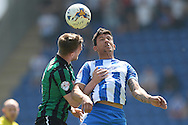 Macauley Bonne of Colchester United does battle with Ashley Eastham of Rochdale during the Sky Bet League 1 match between Colchester United and Rochdale at the Weston Homes Community Stadium, Colchester<br /> Picture by Richard Blaxall/Focus Images Ltd +44 7853 364624<br /> 08/05/2016