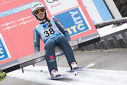 February 8, 2019 - Ljubno, Savinjska, Slovenia - Juliane Seyfarth of Germany on first competition day of the FIS Ski Jumping World Cup Ladies Ljubno on February 8, 2019 in Ljubno, Slovenia. (Credit Image: © Rok Rakun/Pacific Press via ZUMA Wire)