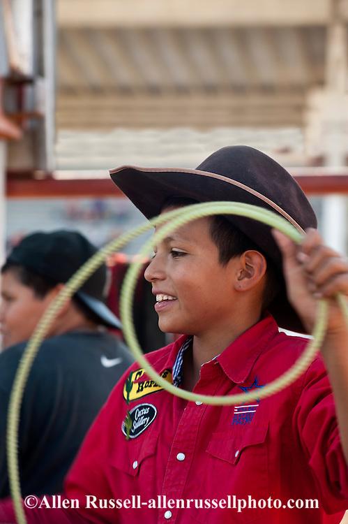 Crow Fair, rodeo, young roper, Crow Indian Reservation, Montana, Virgil McCormick, Crow