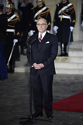 The outgoing Minister of the Interior Bernard Cazeneuve listens as Outgoing Prime Minister Manuel Valls delivers his speech during a ceremony of transfer of power with his successor Bernard Cazeneuve at the Prime Minister's office Hotel de Matignon, in Paris, France on December 6, 2016. Valls has resigned to declare himself a candidate for the presidency, four days after President Francois Hollande announced he would not seek re-election next May 2017. Photo by Eliot Blondet/ABACAPRESS.COM