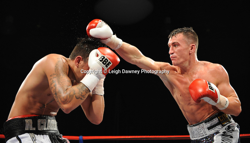 Warren Tansey v Ryan Clark 4x3 Middleweight contest at the Premier Suite, Reebok Stadium, Bolton, UK on 22.10.11. Frank Maloney Promotions. Photo credit: © Leigh Dawney.
