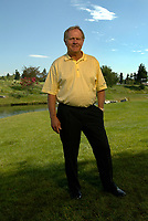 8 September 2004: Legendary golfer JACK NICKLAUS @ The Jack Nicklaus Heart & Stroke Challenge Gold Tournament for participants aged 55 and older. Held at a new golf course designed by his son at the Aliso Viejo Country Club located in Southern California. Men & Women aged 55 and older are at an increased risk of suffering cardiovascular related deaths. Nicklaus suffers from hypertension (high blood pressure) and is at high risk for a heart attack or stroke.